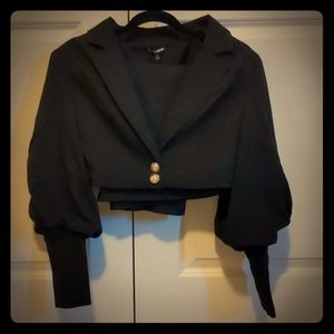 Black Blazer & Skirt Set
